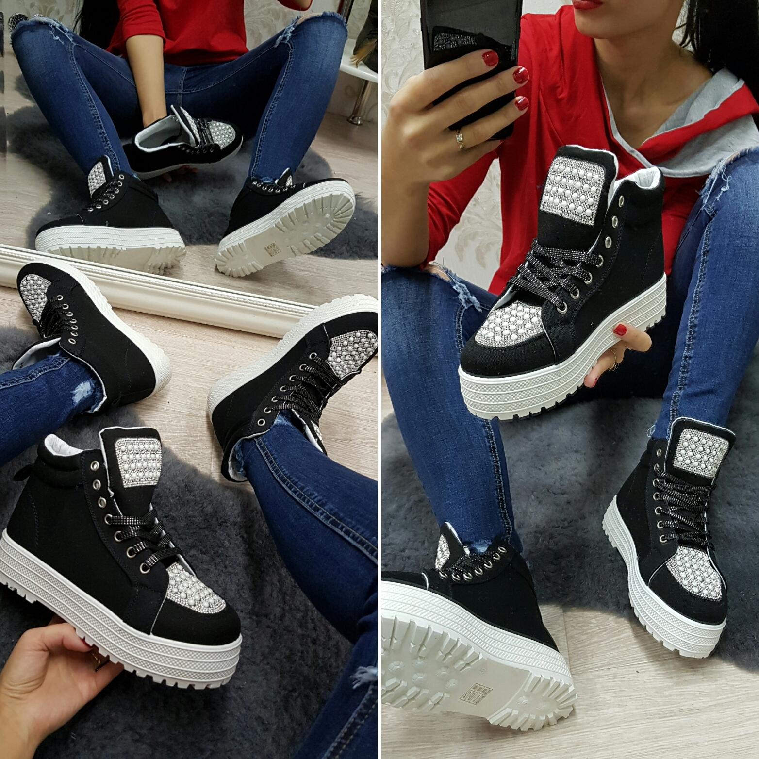 2df0d753ae3 Dámské stylové boty diamante (černé)
